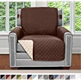 "Sofa Shield Original Patent Pending Reversible Chair Slipcover, Dogs, 2"" Strap/Hook, Seat Width Up to 23"" Machine…"