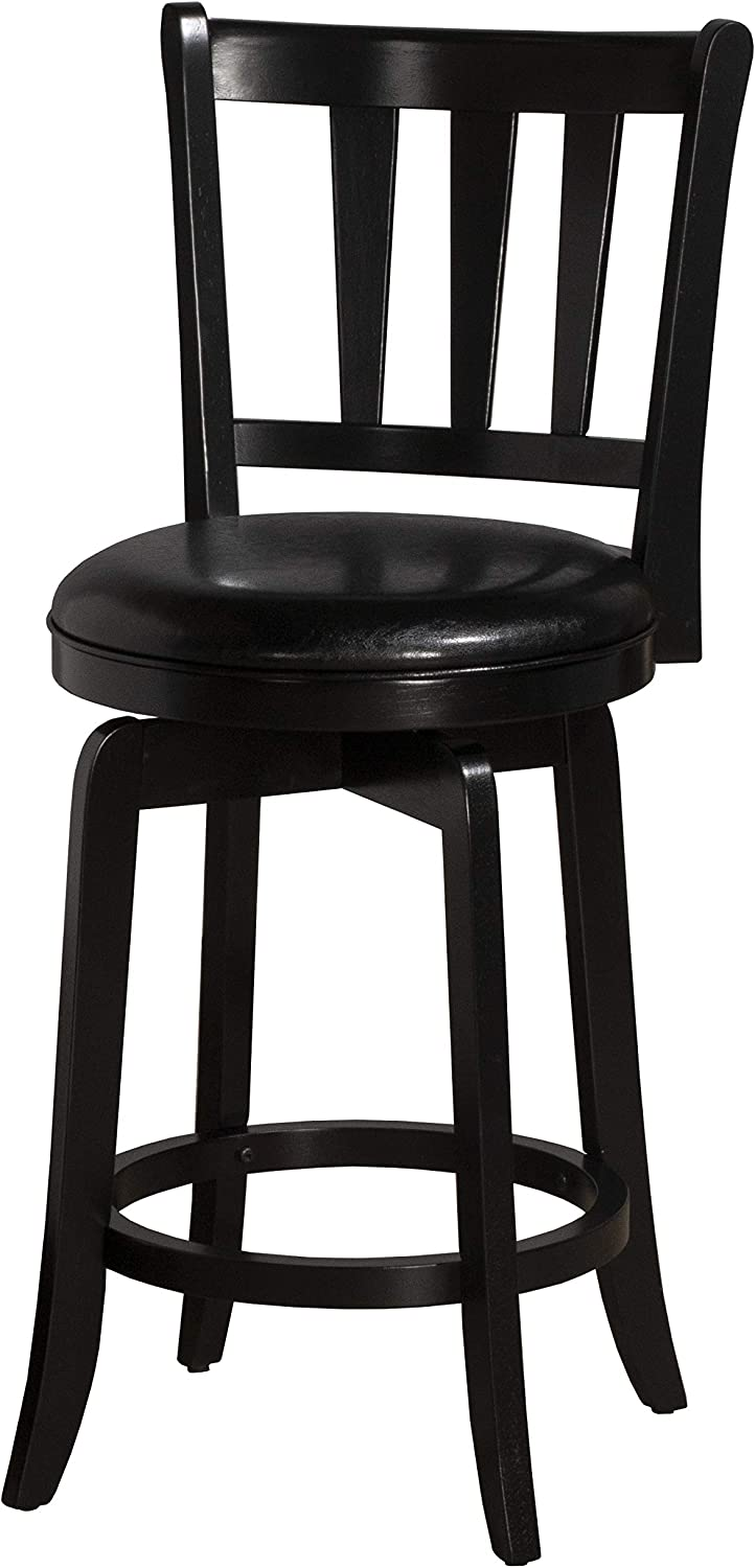 Hillsdale Furniture Presque Isle Swivel Counter Stool, Black
