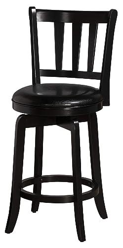 Hillsdale Furniture Presque Isle Swivel Counter Stool, Black