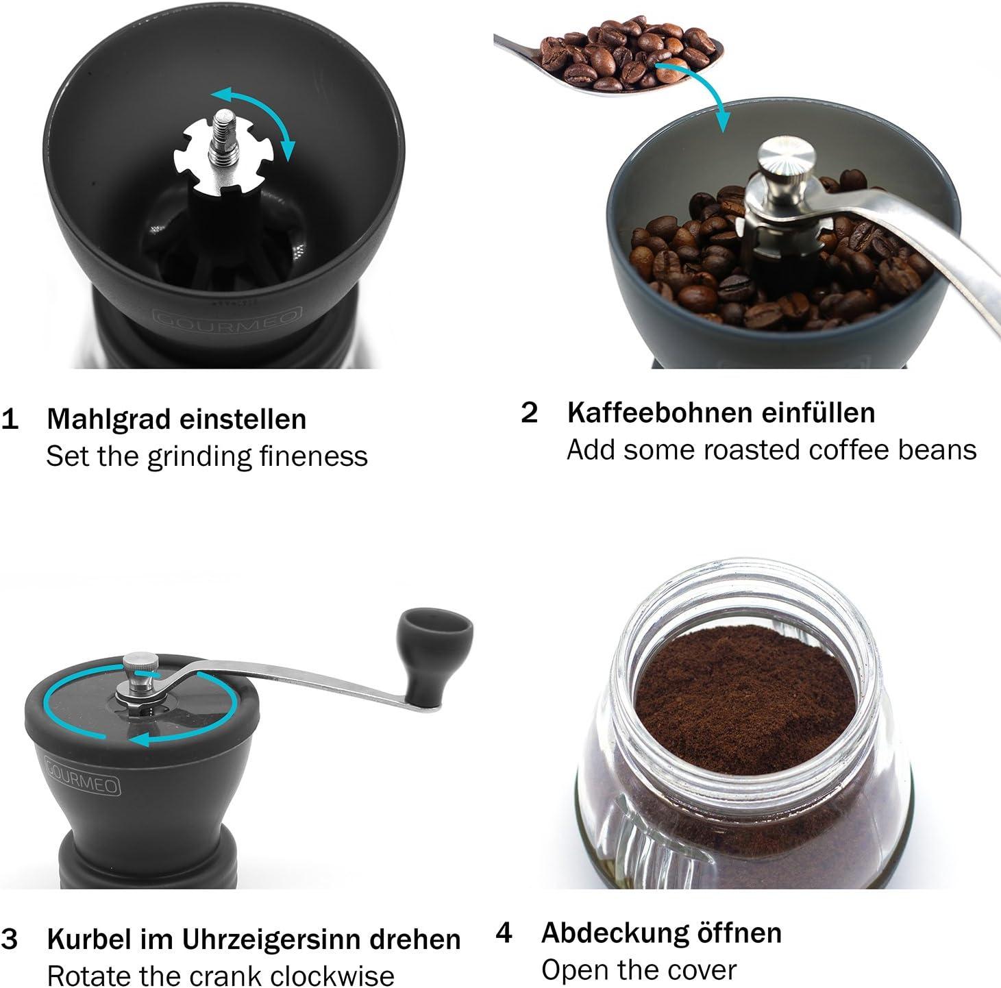 Manuelle Handkaffeemühle Mit Keramikmahlwerk Im JapanischenEspresso-Mühle