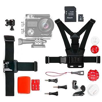 DURAGADGET Tarjeta de Memoria para Cámara Deportiva AKASO Brave 4, AKASO V50 Pro, COOAU 4K WiFi Sports Camera, LILIKU HD-US-258 Micro SD HC 16 GB + ...