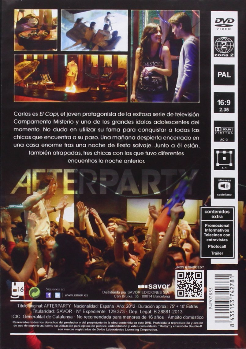 Afterparty [DVD]: Amazon.es: Lucho Fernández, Miguel Larraya: Cine y Series TV