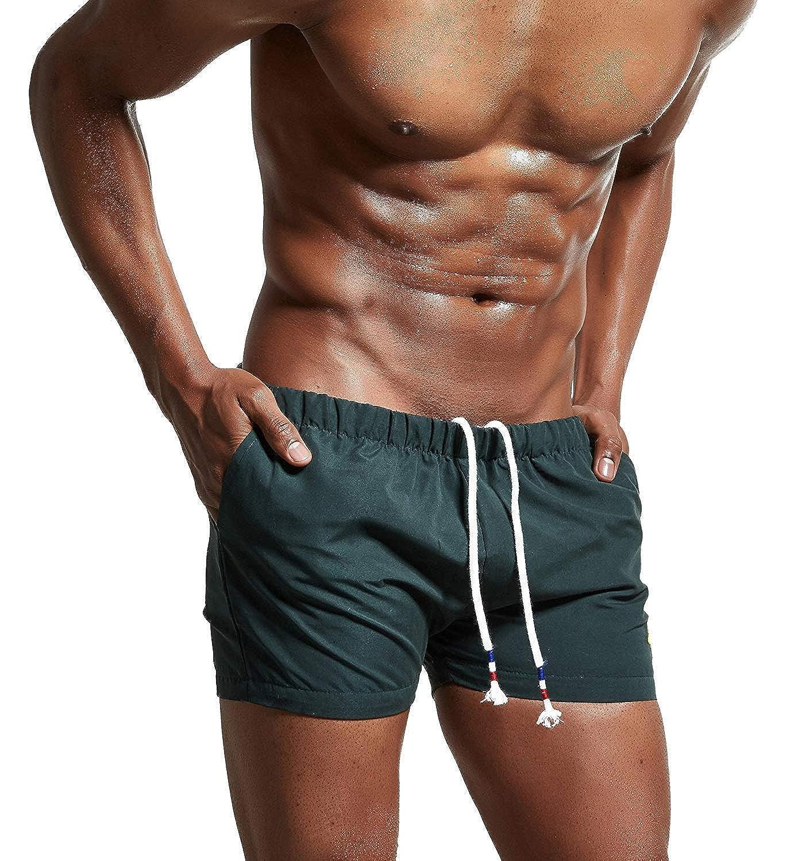 Lachi Ba/ñador Hombre Traje de Ba/ño Pantalon Corto de Playa Nataci/ón Piscina Secado R/ápido con Forro de Mallas