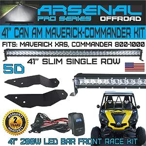 2017-2018 CAN-AM MAVERICK X3 ATV 6inch SLIM LED LIGHT BAR DRIVING FOG LAMP