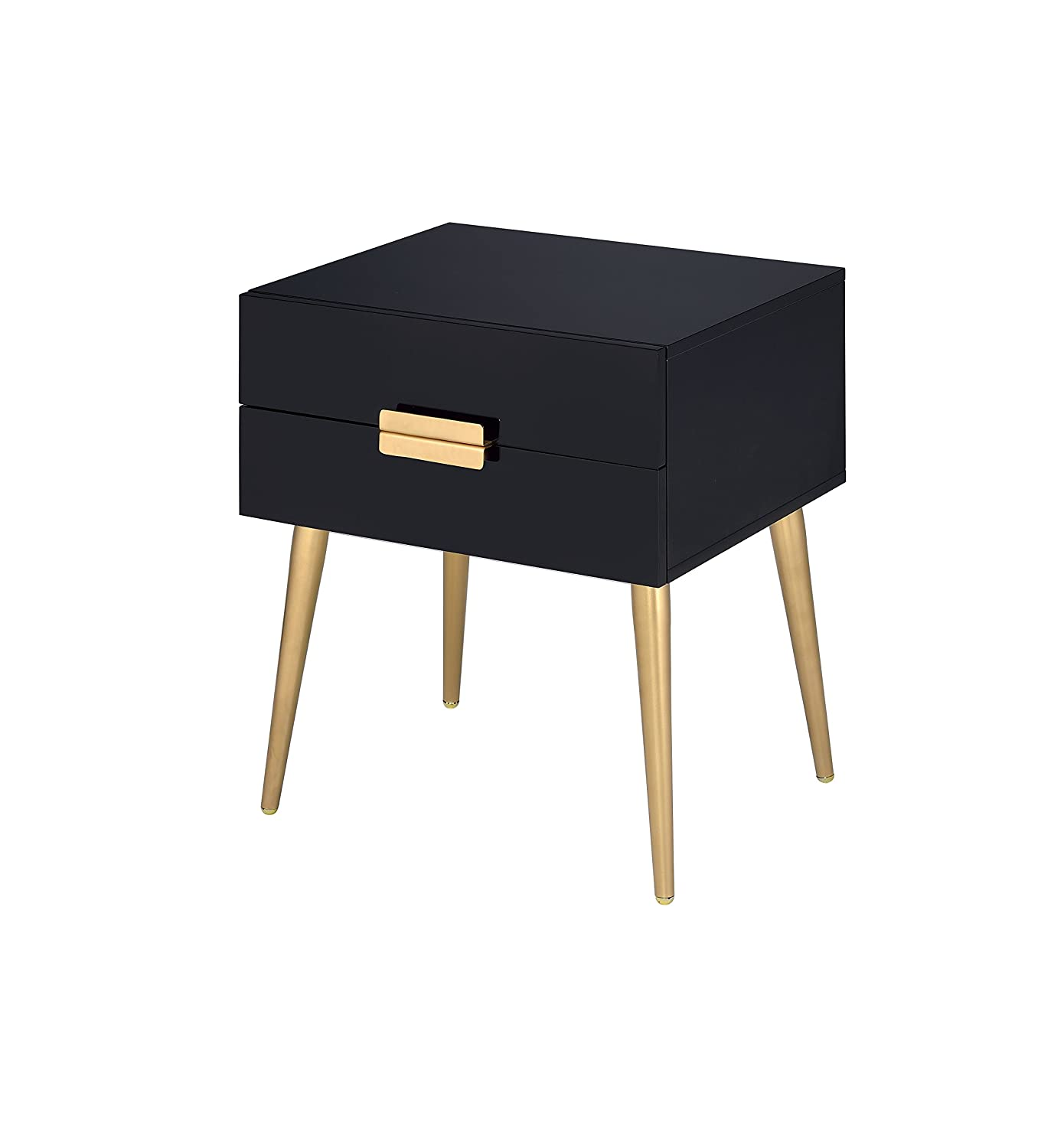 Amazon com acme furniture 84495 denvor end table black gold kitchen dining