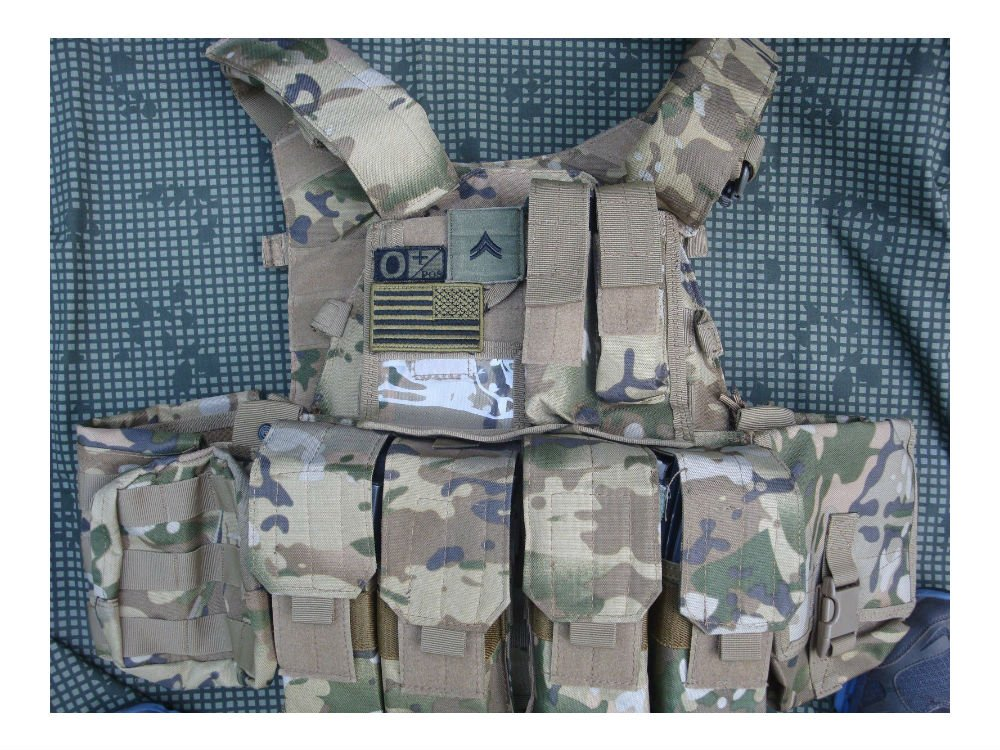 6094 style Combat Strike Plate Carrier Vest Multi Cam Style by Unknown