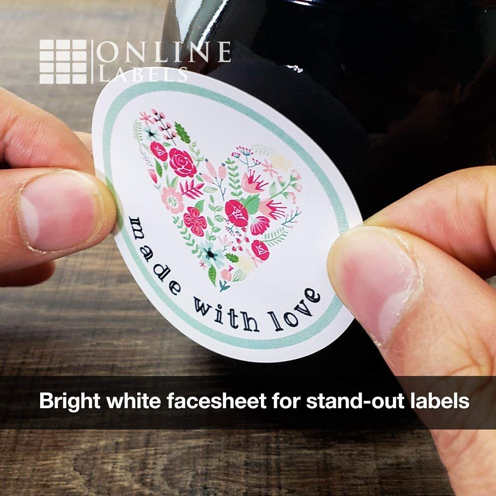 Amazon com 2 5 round labels pack of 1 200 circle stickers 100 sheets inkjet laser printer online labels all purpose labels office products