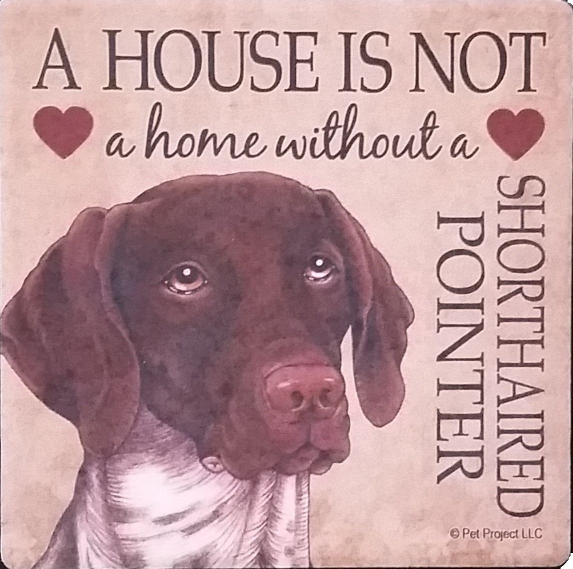 German Shorthair pointer-a House Is Not A home-bundle 2の吸収性ストーンコースターのコルクBack   B077648X36
