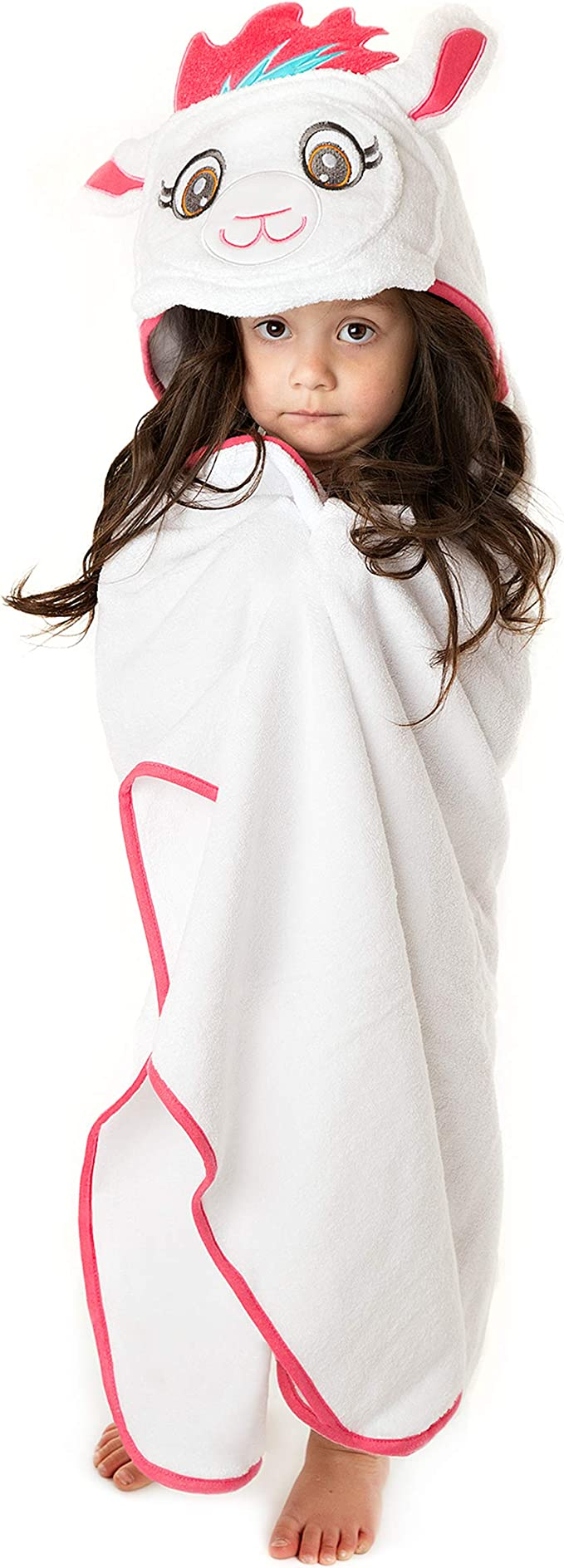 Amazon.com: Premium Hooded Towel for Kids | Llama Design | Ultra Soft and Extra Large | 100% Cotton Bath Towel with Hood for Girls by Little Tinkers World: Kitchen & Dining