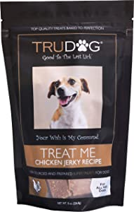 TruDog: Treat Me Chicken Jerky Recipe Treats - Natural and Healthy Dog Treats for Small, Medium, and Large Dogs - 8 oz - Veterinarian Formulated Snacks - Rich in Protein, Made in The USA