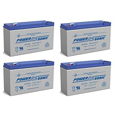 PS-6100 6V 12AH UPS Battery for Lithonia ELB-0612-4 Pack : Sports & Outdoors