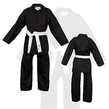 Amazon.com: Los niños negros Traje de Karate última ...