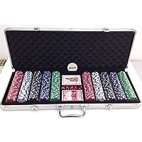 Maleta de Poker 500 Fichas Completa PK-500 Western