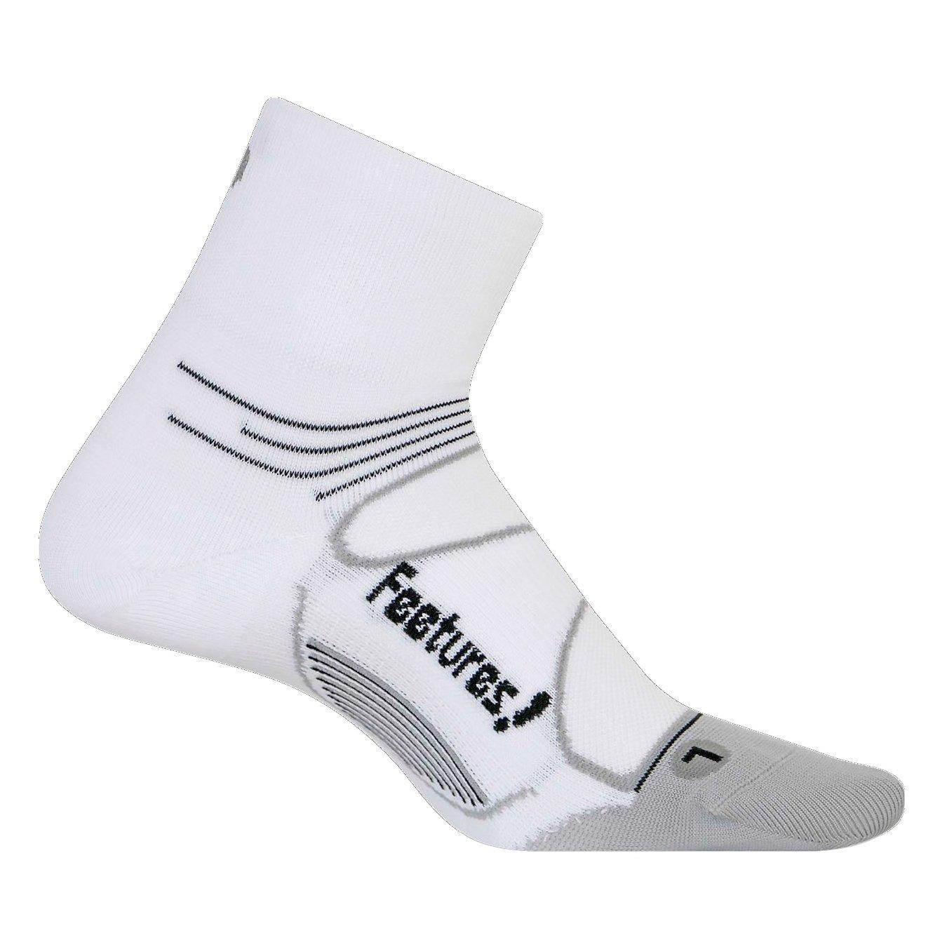Feetures! SOCKSHOSIERY メンズ B011S89TKY L|White + Black White + Black L