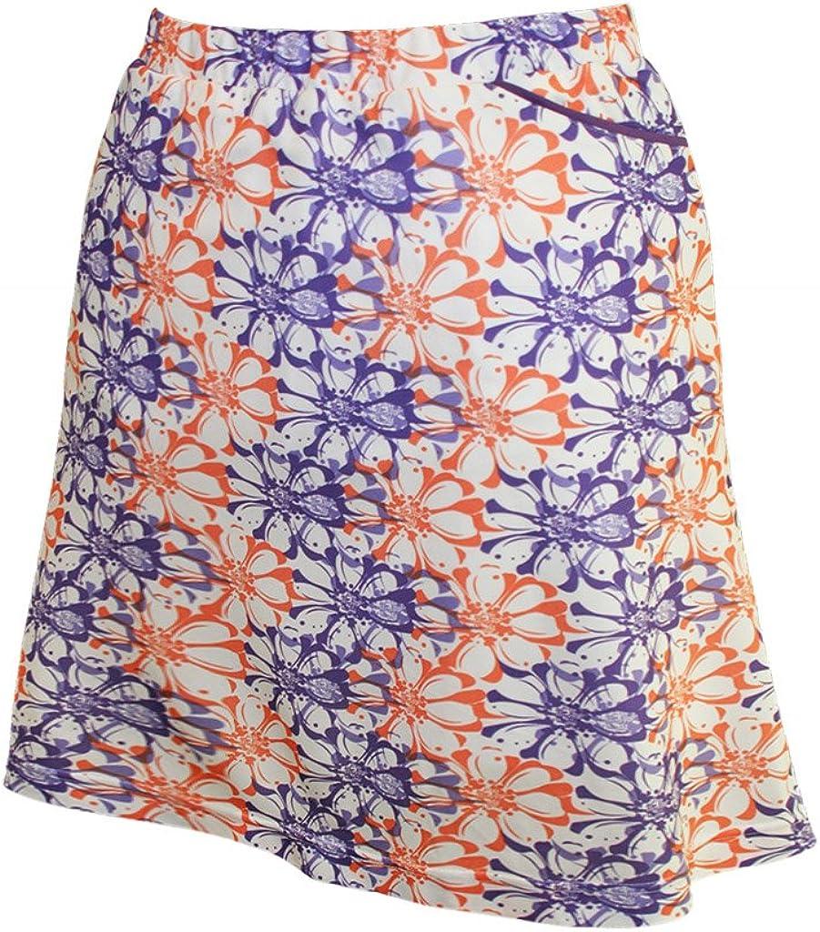 Monterey Club Womens Floral Stamp Print Knit Skort #2915