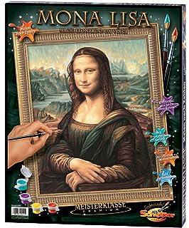 Mona Lisa nach Leonardo da Vinci Malen nach Zahlen Schipper 40 x 50 cm Meister