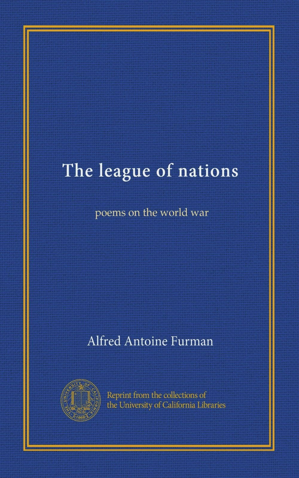 Download The league of nations: poems on the world war pdf epub