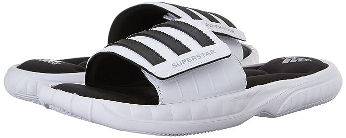 hombre incomparable colección completa Buy Adidas Men's Superstar 3G Slide Sandals, 8 M US (White, Black ...