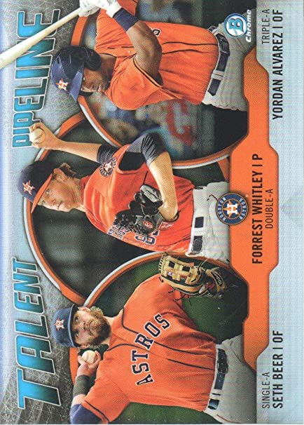 2019 Bowman Talent Pipeline #TP-HOU Yordan Alvarez//Forrest Whitley//Seth Beer Houston Astros Baseball Card