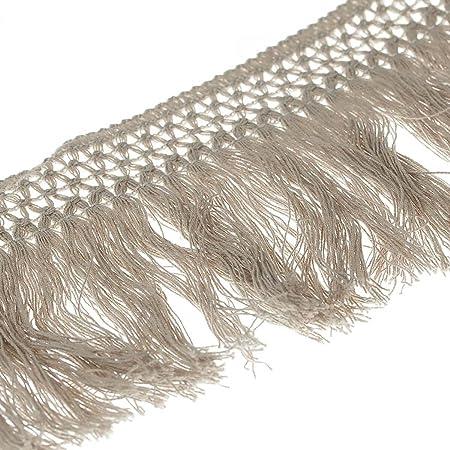 Cinta flecos algodón 10 cm – Natural – anchura 100 mmmm: Amazon.es: Hogar