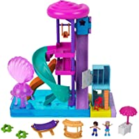 Polly Pocket Pollyville Super Slidin' Water Park with Micro Polly & Lila Dolls, Water Park with Water Feature, 3 Slides…