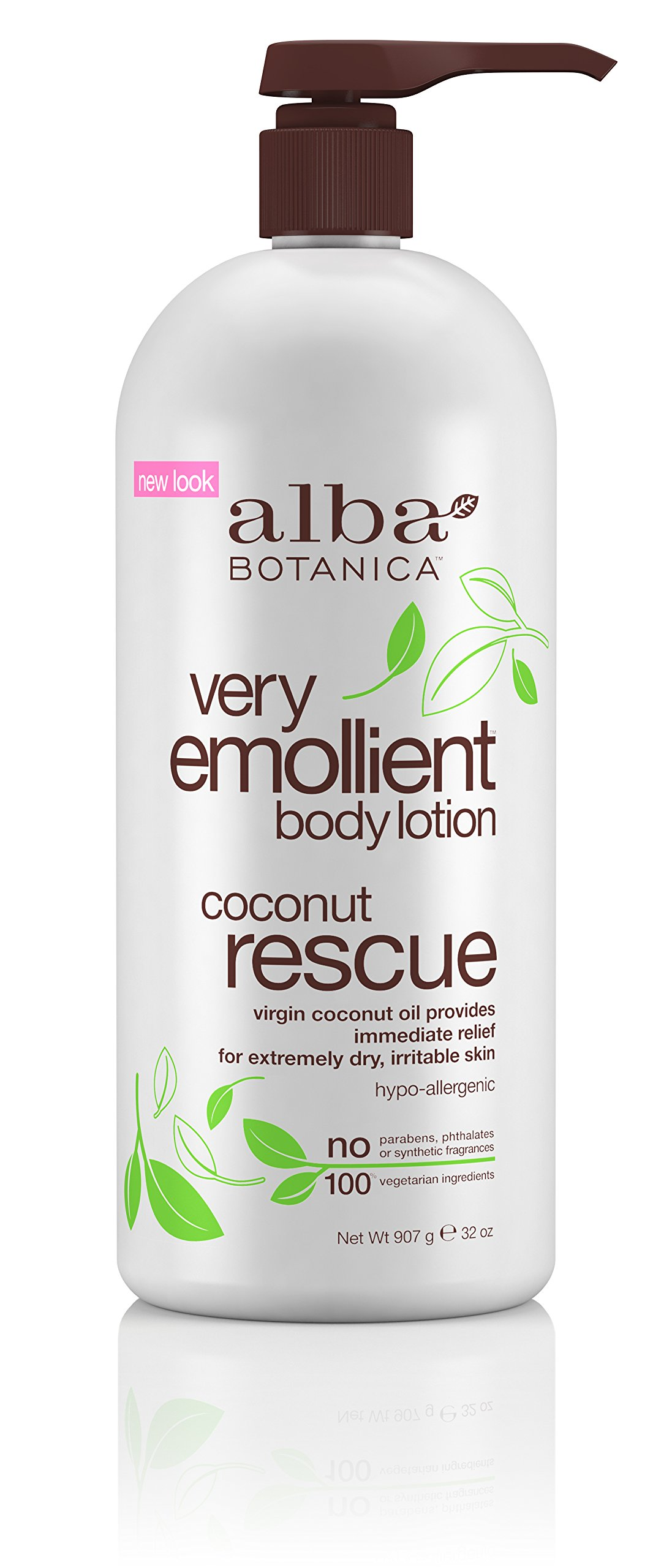 Alba Botanica Very Emollient Coconut Rescue Body Lotion, 32 Ounce