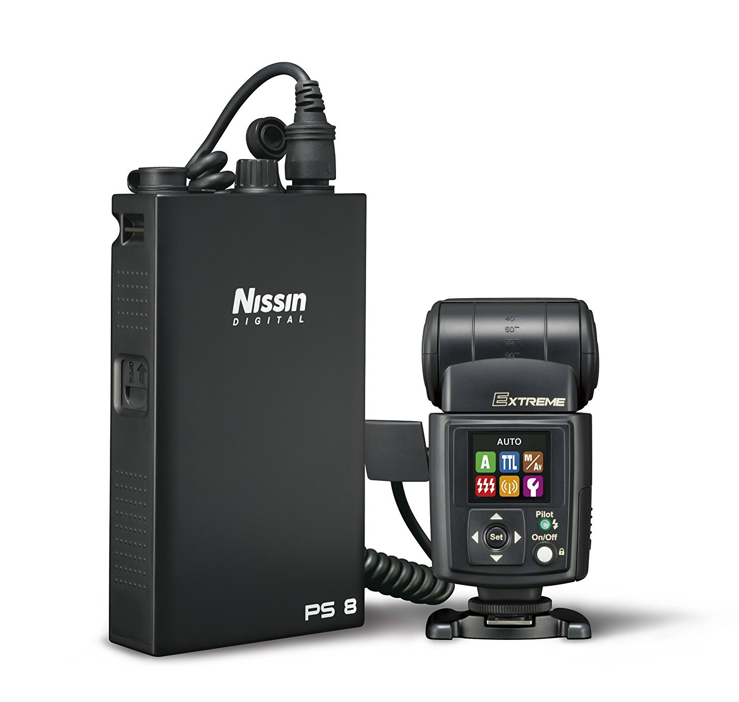 Nissin i60A Air Flash, Wireless 2.4GHz Nissin Air System Receiver For Nikon - Includes Nissin USA 2 Year Warranty by Nissin