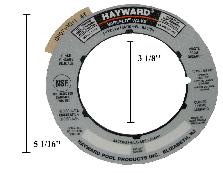 Amazon.com: (GG) Replacement Sand Filter Valve Label Plate Sticker SPX0710G for Genuine Hayward: Garden & Outdoor