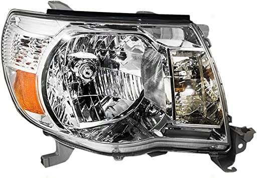 Driver and Passenger Headlights Headlamps with Bright Chrome Bezels Replacement for 2005-2011 Tacoma 8115004163 8111004163