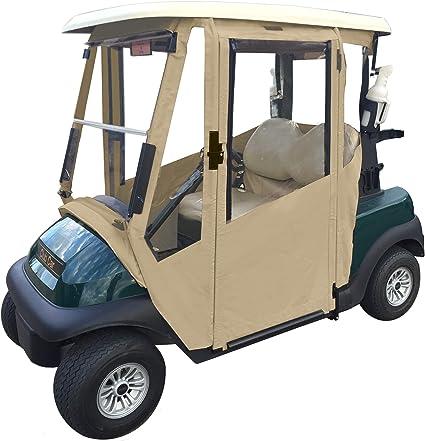 Doorworks Scharniertür Golf Cart Gehäuse Made Mit Sunbrella Leinwand Swinging Türen Mit Reißverschluss In Windows Ohne