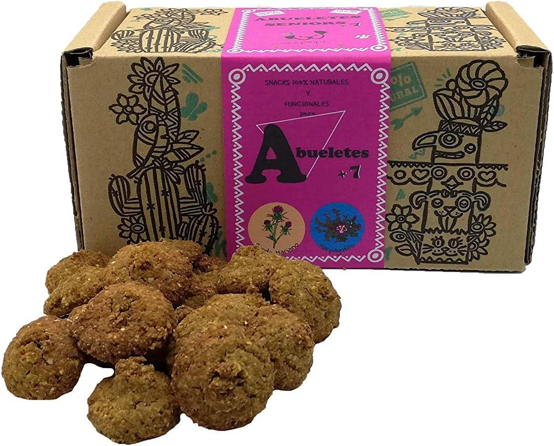 Waniyanpi Snacks para Perros Seniors. con Harpagofito, Aceite de Salmón y Cardo Mariano para Mejorar la Salud de los más Mayores. 200g: Amazon.es: Productos para mascotas
