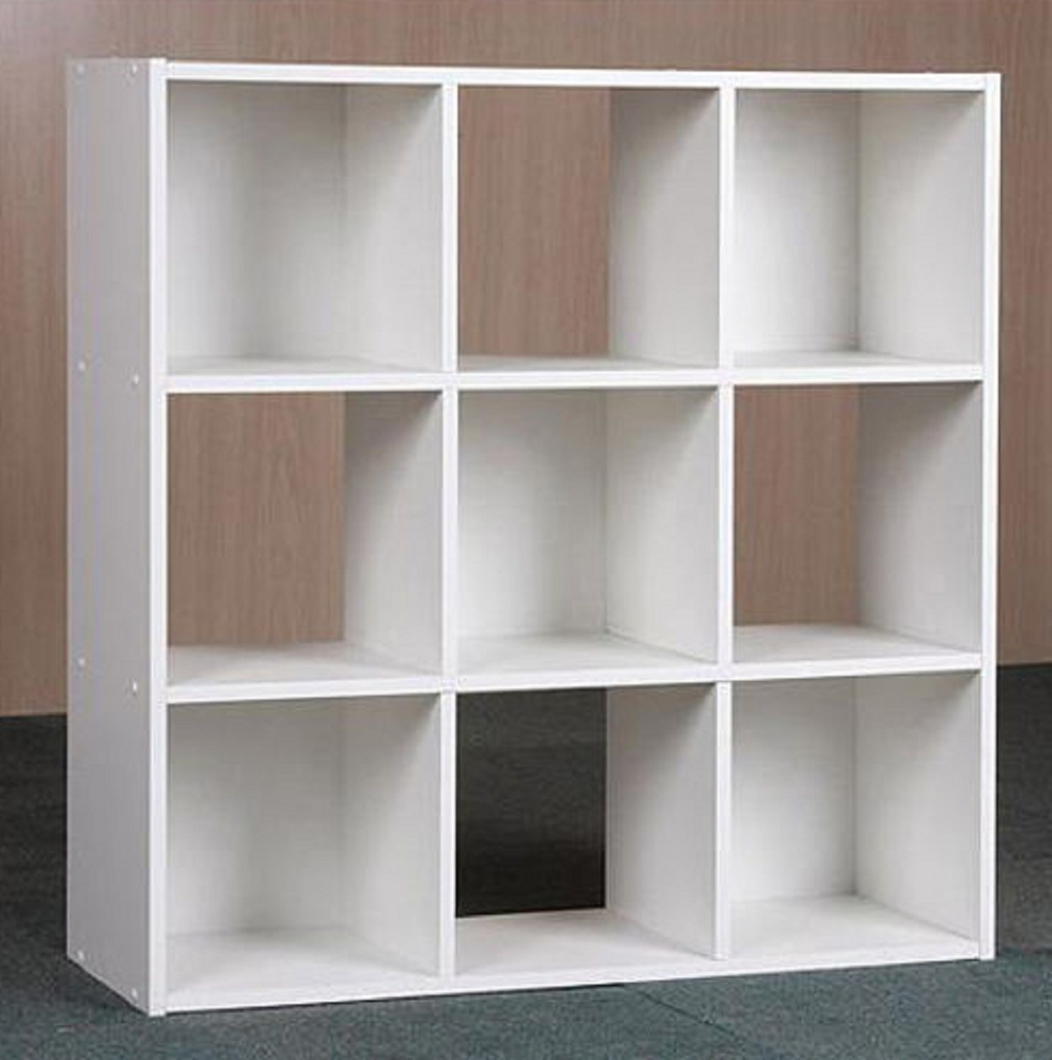 USA Premium Store 9 Cube Organizer Bookcase Storage Tower Shelves White Kids or Living Room