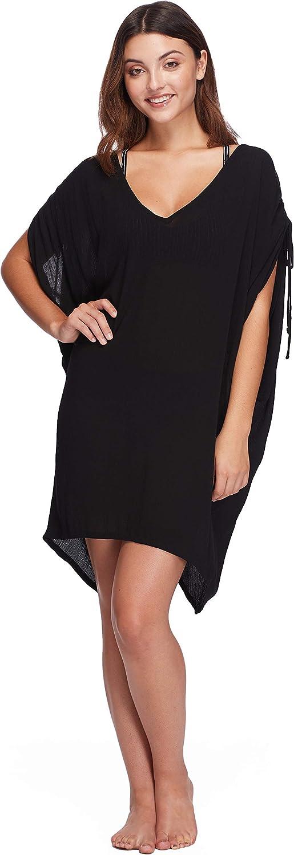 Skye Womens Marici Wrinkled Rayon Cover Up Dress