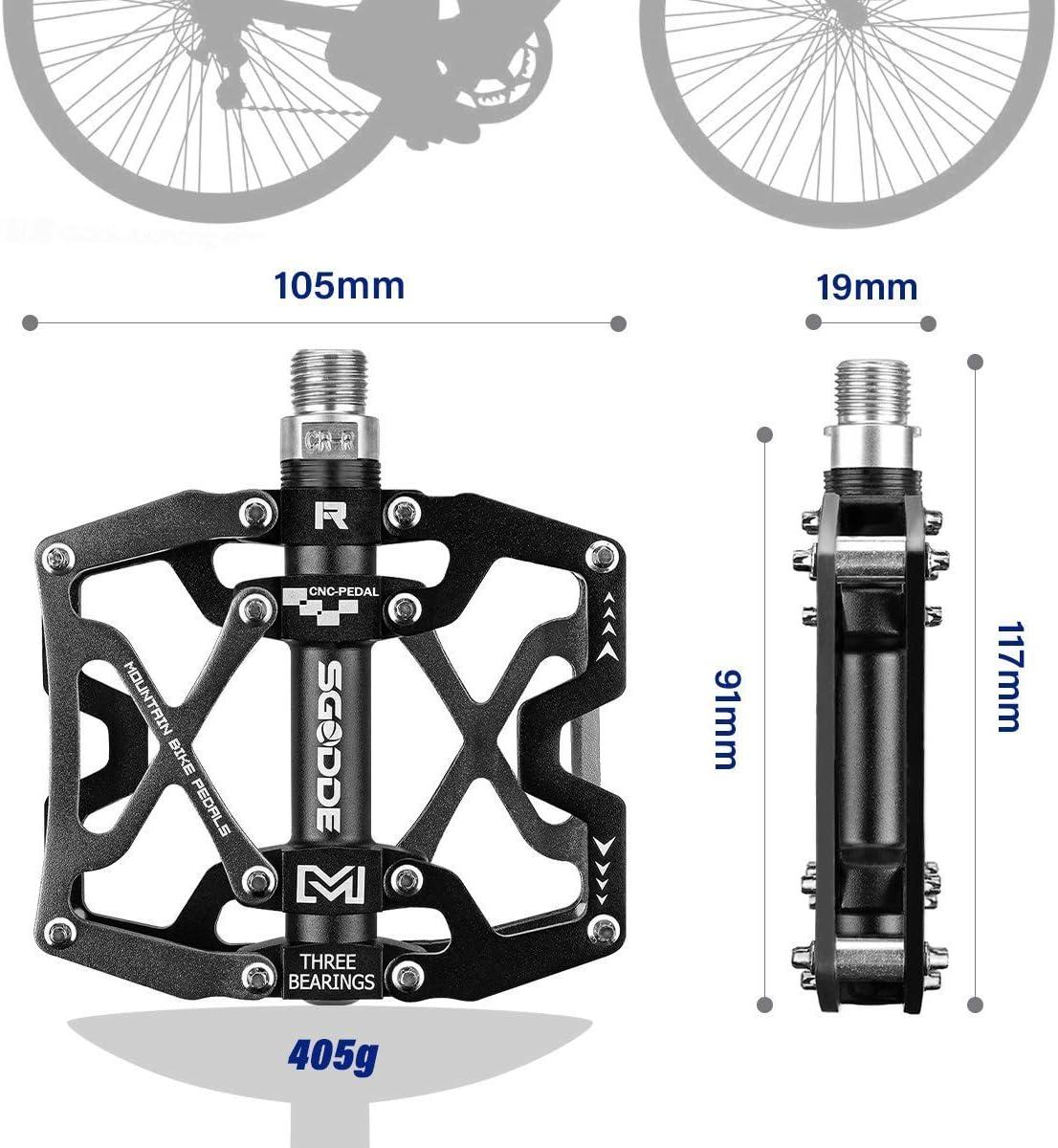 DE MTB BMX Mountain Road Bike Pedal Magnesium 3 Bearing Flat Platform Neuer Stil