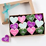 1 Dz. Mini Conversation Heart Cookies! GIFT BOX INCLUDED Valentine's Day, I Love You's, Gifts and More