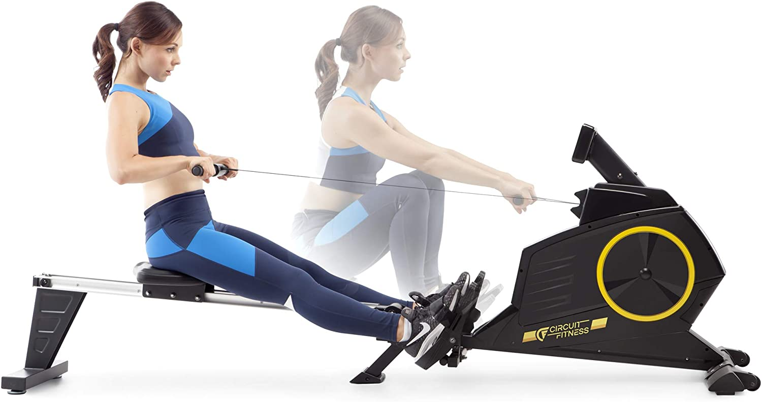 Circuit Fitness Deluxe Foldable Magnetic Rowing Machine - Working out