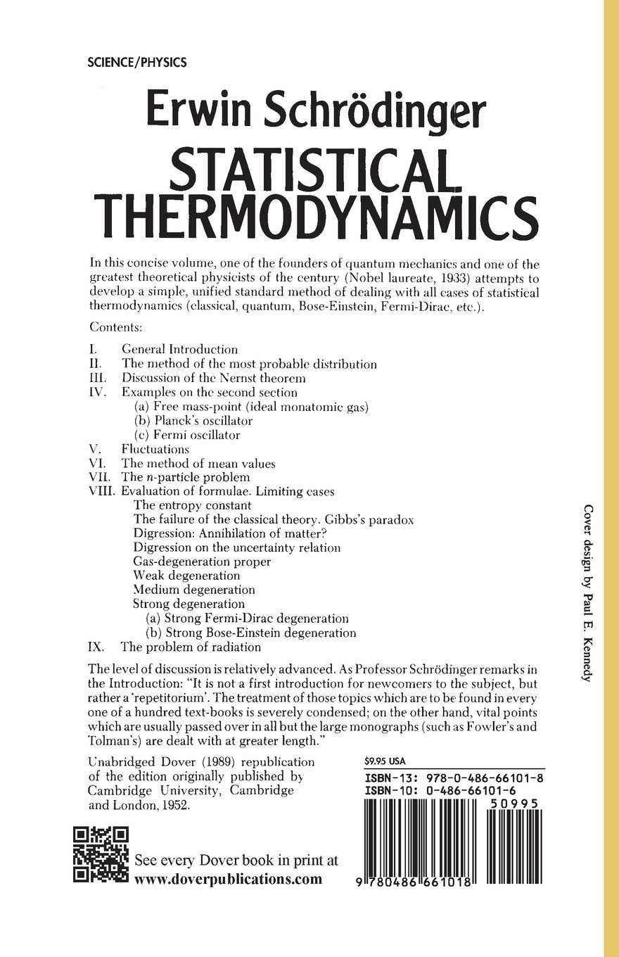 buy statistical thermodynamics dover books on physics book online
