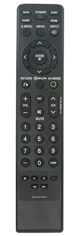 MKJ42519603 交換用プラズマテレビリモコン 対応機種: LG TV 42PG10 42PG20 42PG20-UA 42PG20C 42PG20C-UA 42PG20UA 42PG25 42PG65C 50PG10 50PG20 50PG20C 50PG20C-UA 50PG20CUA 50PG20-UA 50PG25 50PG30 50PG30C   B07S18279H