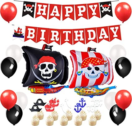 Amazon.com: Pirate Party Supplies – Pirate Party Decorations ...