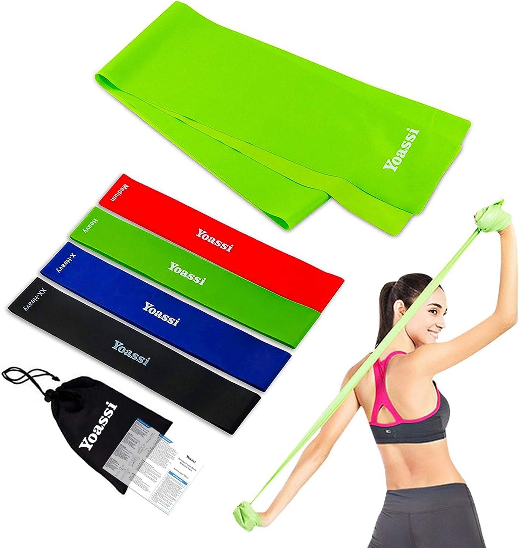 4Tubo Attrezzo Elastico Pilates Fitness Fascia Esercizi Allena Braccia Spalle
