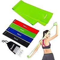 Yoassi 150×15 cm fitnessband met set 4 diktes 30×5 cm weerstandsbanden-stretchband fitness gymnastiek elastieken voor…