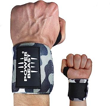 Power Beast Muñequeras Crossfit | Wrist Wraps Elásticas para Pesas ...