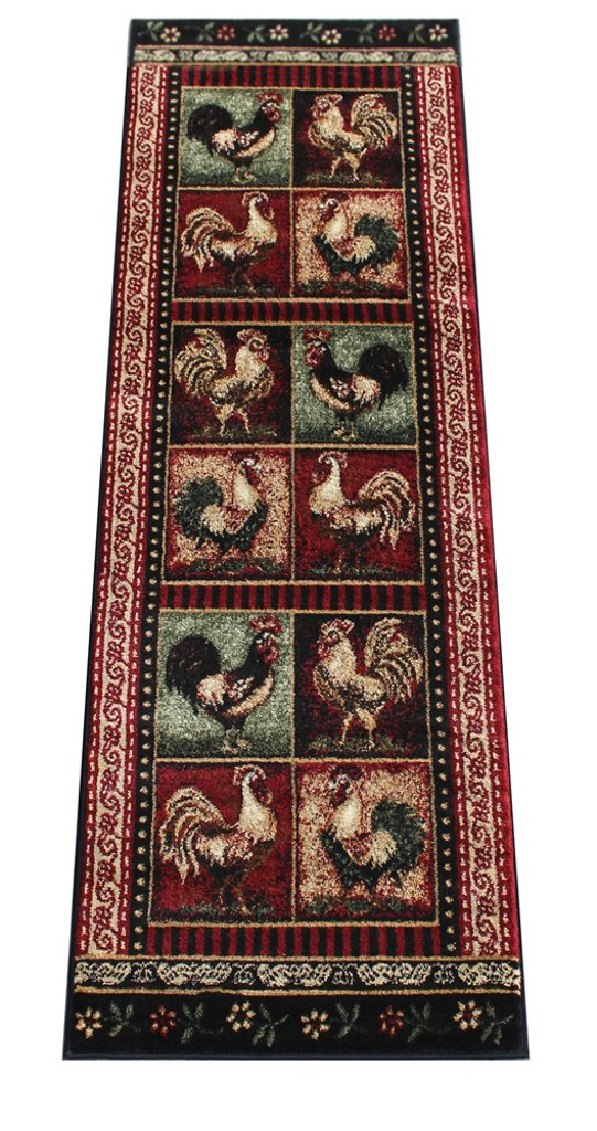 Rooster Style Area Rug Runner 2 Ft. 2 In. X 7 Ft. 2 In. Design # L-379