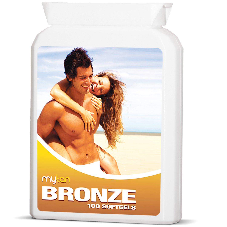 MyTan Bronze Tanning Pills | 100 Softgels | Beta Carotene Sunless Tan Pills