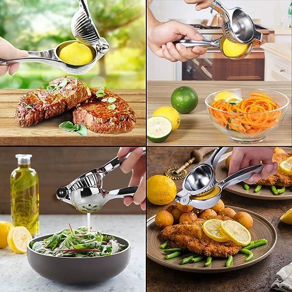 YOCZOX Exprimidores Manuales , Exprimidor limón manual Acero Inoxidable para hacer Zumo/ Ensalada/ Bebida Una Herramienta Indispensable para Cocina/ Bar ...