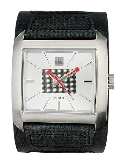 Quiksilver M122BL/ASIL - Reloj de caballero de cuarzo, correa de piel color negro: Amazon.es: Relojes