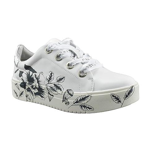 sito affidabile 2bf48 47b38 Sneakers Donna CAFèNOIR in Pelle con Tattoo Floreale IDD143 ...