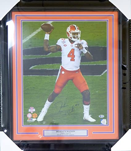 f0e835fce0b Image Unavailable. Image not available for. Color  DESHAUN WATSON  AUTOGRAPHED FRAMED 16X20 PHOTO CLEMSON ...