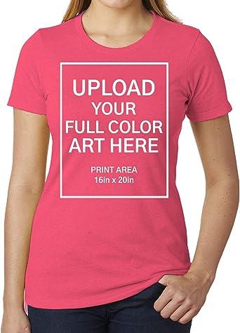 T Shirt With Your Photo or Art Custom Photo Shirt Women/'s White Tee