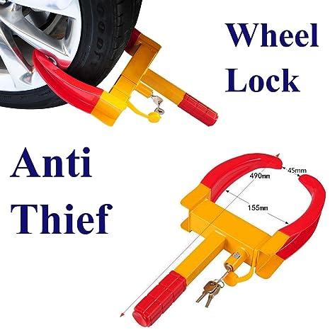 Brand NEW Heavy Duty cerradura con llave coche caravana remolque rueda de seguridad cierre de sujeción